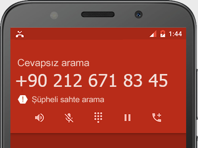 0212 671 83 45 numarası dolandırıcı mı? spam mı? hangi firmaya ait? 0212 671 83 45 numarası hakkında yorumlar