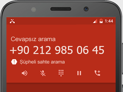 0212 985 06 45 numarası dolandırıcı mı? spam mı? hangi firmaya ait? 0212 985 06 45 numarası hakkında yorumlar
