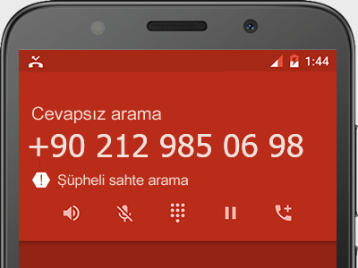 0212 985 06 98 numarası dolandırıcı mı? spam mı? hangi firmaya ait? 0212 985 06 98 numarası hakkında yorumlar