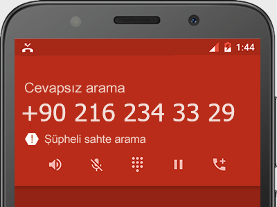 0216 234 33 29 numarası dolandırıcı mı? spam mı? hangi firmaya ait? 0216 234 33 29 numarası hakkında yorumlar