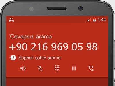 0216 969 05 98 numarası dolandırıcı mı? spam mı? hangi firmaya ait? 0216 969 05 98 numarası hakkında yorumlar
