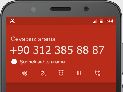 0312 385 88 87 numarası dolandırıcı mı? spam mı? hangi firmaya ait? 0312 385 88 87 numarası hakkında yorumlar