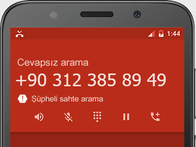 0312 385 89 49 numarası dolandırıcı mı? spam mı? hangi firmaya ait? 0312 385 89 49 numarası hakkında yorumlar