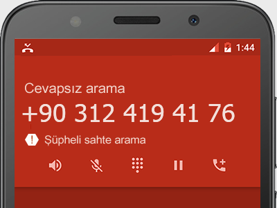 0312 419 41 76 numarası dolandırıcı mı? spam mı? hangi firmaya ait? 0312 419 41 76 numarası hakkında yorumlar