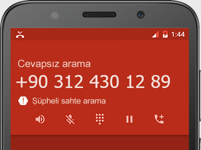 0312 430 12 89 numarası dolandırıcı mı? spam mı? hangi firmaya ait? 0312 430 12 89 numarası hakkında yorumlar