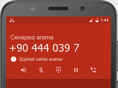 0444 039 7  numarası dolandırıcı mı? spam mı? hangi firmaya ait? 0444 039 7  numarası hakkında yorumlar