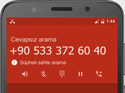 0533 372 60 40 numarası dolandırıcı mı? spam mı? hangi firmaya ait? 0533 372 60 40 numarası hakkında yorumlar