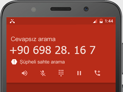 0698 28. 16 7 numarası dolandırıcı mı? spam mı? hangi firmaya ait? 0698 28. 16 7 numarası hakkında yorumlar