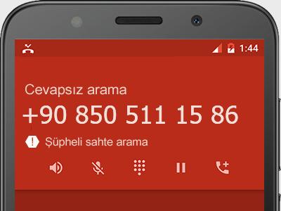 0850 511 15 86 numarası dolandırıcı mı? spam mı? hangi firmaya ait? 0850 511 15 86 numarası hakkında yorumlar